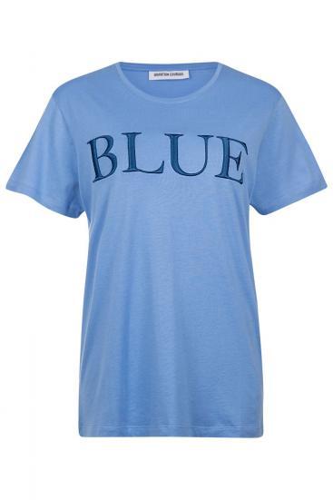 "Damen T-Shirt ""Blue"" Blau"