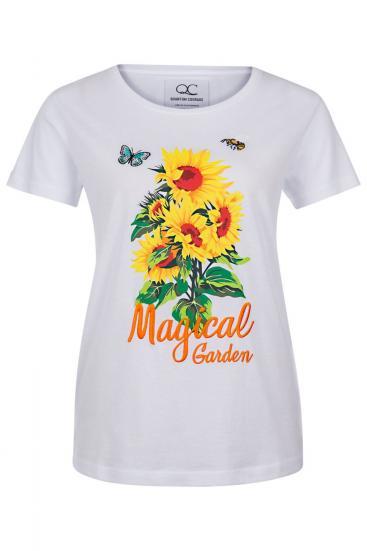 """Damen T-Shirt """"Magical Garden"""" Weiss"""
