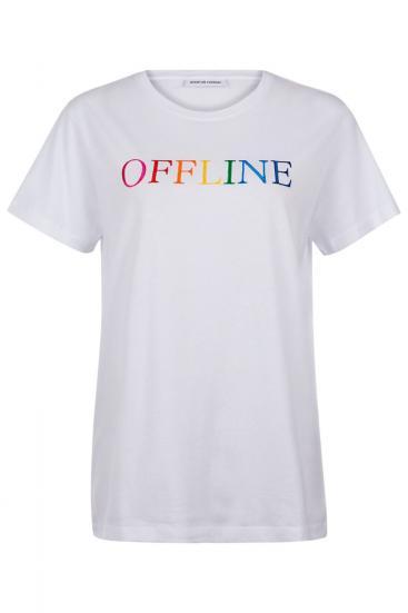 """Damen T-Shirt """"Offline"""" Weiss"""