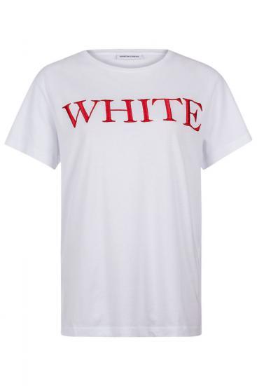 """Damen T-Shirt """"White"""" Weiss"""