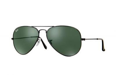 Sonnenbrille Aviator Classic Schwarz Grün