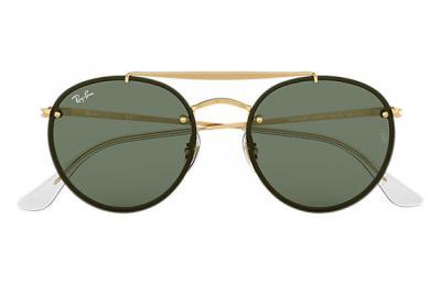 Sonnenbrille Blaze Round Double Bridge Grün klassisch