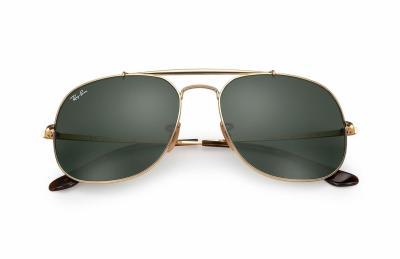 Sonnenbrille General Gold Grün klassisch