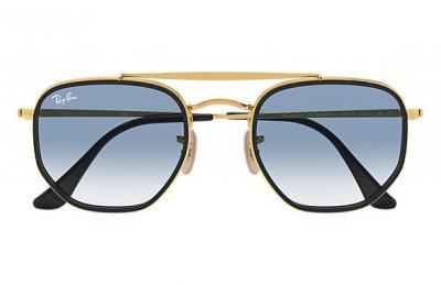 Sonnenbrille Marshall II Hellblau Gold