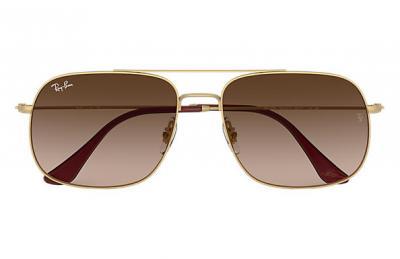 Sonnenbrille RB3595 Braun Verlauf Gold