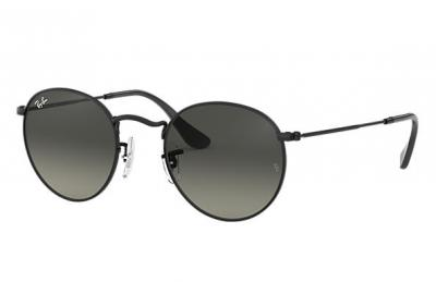 Sonnenbrille Round Flat Lenses Schwarz