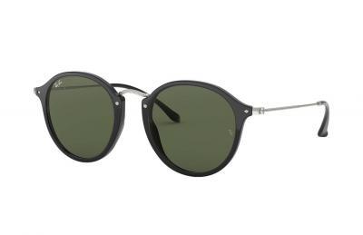 Sonnenbrille Round Fleck Schwarz