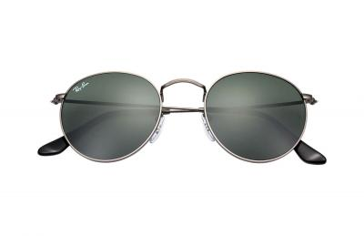 Sonnenbrille Round Metal Grau