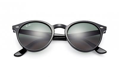 Sonnenbrille Round Schwarz Grün klassisch