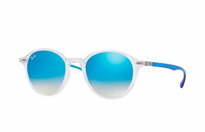 Sonnenbrille Transparent Blau Gradient Flash