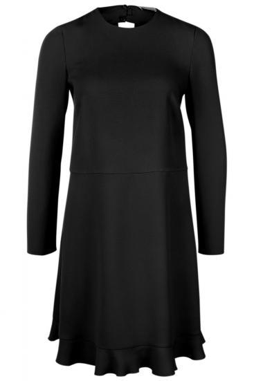 Damen Kleid mit Schluppe Schwarz