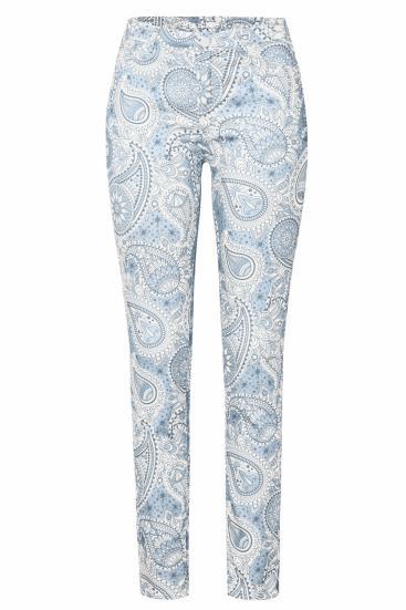 Damen Jeans Antonia_049 Paisleymuster Weiß