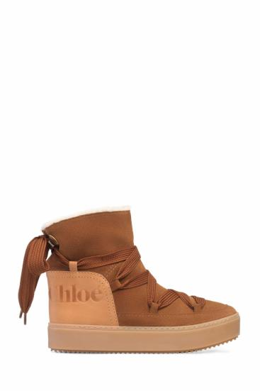 Damen Boots Crosta Tabacco Cognacbraun