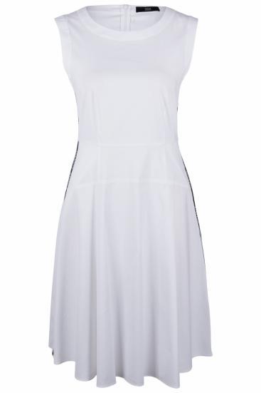Damen A-Linien Kleid Weiss