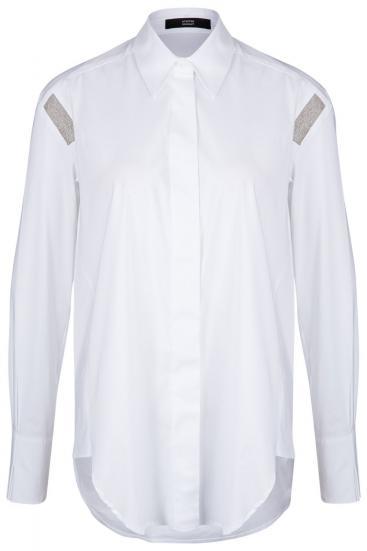 Damen Bluse mit Nietendetails Weiss