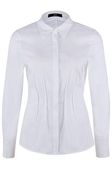 Damen Bluse mit Schößchen Weiss