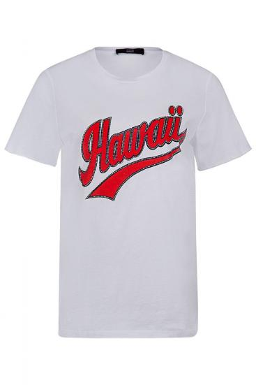 """Damen T-Shirt """"Hawaii"""" Weiss"""