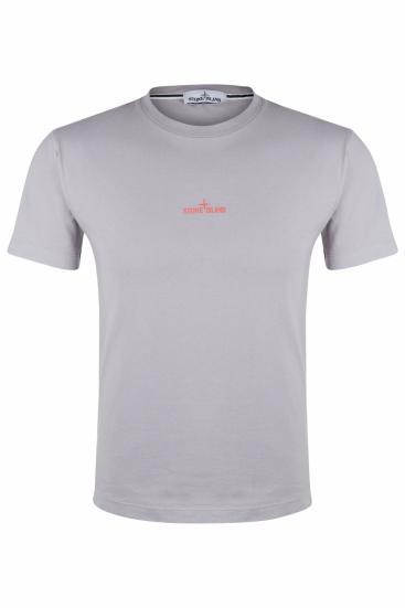 Herren Logo T-Shirt Hellgrau
