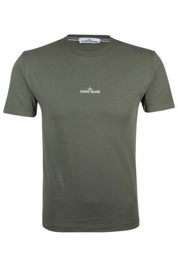 Herren Logo T-Shirt Olive
