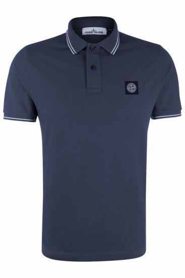 Herren Piqué Poloshirt Blau