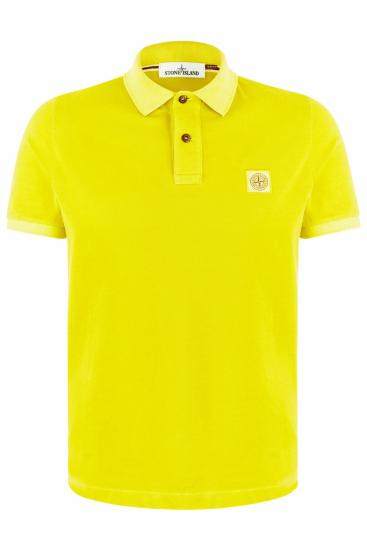 Herren Piqué Poloshirt Gelb