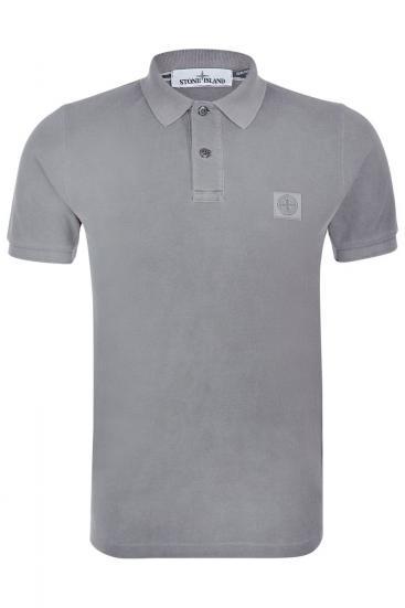 Herren Piqué Poloshirt Hellgrau