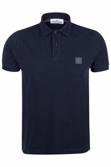 Herren Piqué Poloshirt Navy