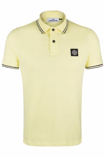 Herren Poloshirt Gelb