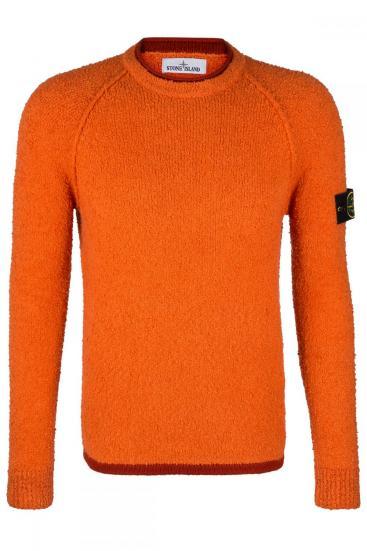 Herren Strickpullover Orange