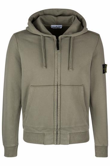 Moncler Grenoble Sweatshirt Grau Stehkragen Gerade Passform