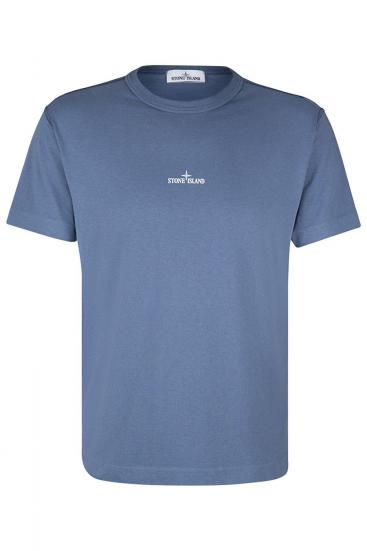 Herren T-Shirt Grau/Blau