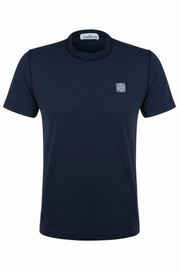 Herren T-Shirt Marine Blau