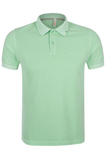 Herren Poloshirt Cold Dye Lime