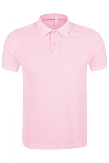 Herren Poloshirt Cold Dye Rosa