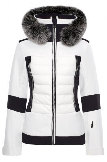 Damen Skijacke Manou Fur Weiss