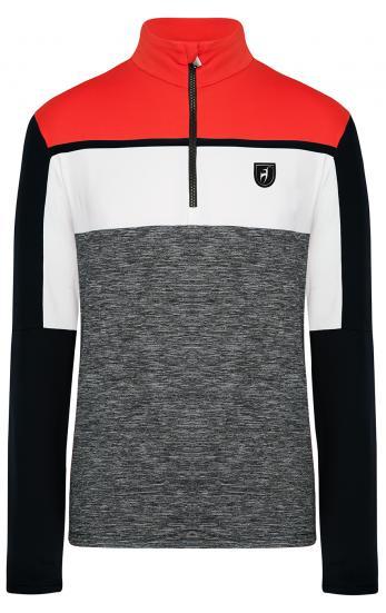 Herren First Layer Skishirt Raoul Fire Orange Grau