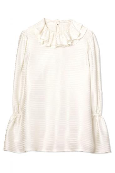 Damen Bluse mit Volants New Ivory