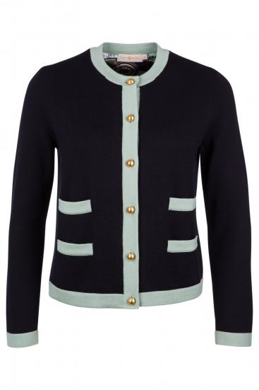 Damen Cardigan Kendra Medium Navy/Spring Mint