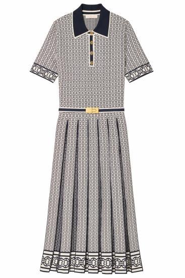 Damen Gemini Link Polo Kleid New Ivory