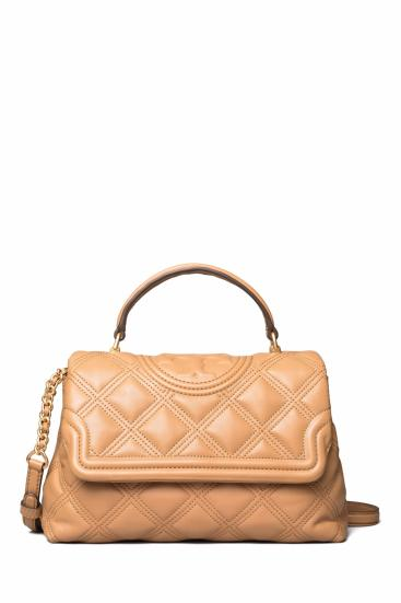 Damen Handtasche Fleming Soft Top Handle Satchel Tiramisu