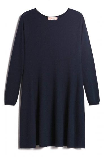 Damen A-Linien Kleid Navy