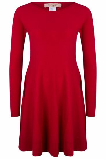 Damen A-Linien Kleid Rot