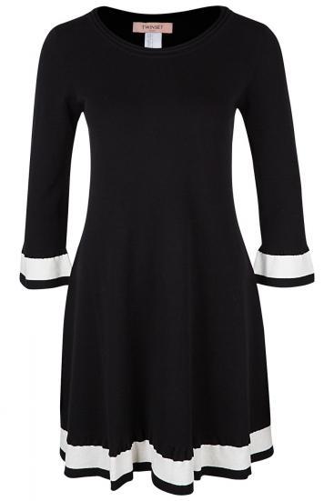 Damen A-Linien Kleid Schwarz