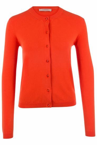 Damen Strickjacke Orange