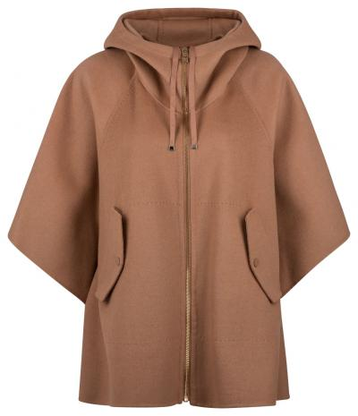 Damen Wollcape Camel