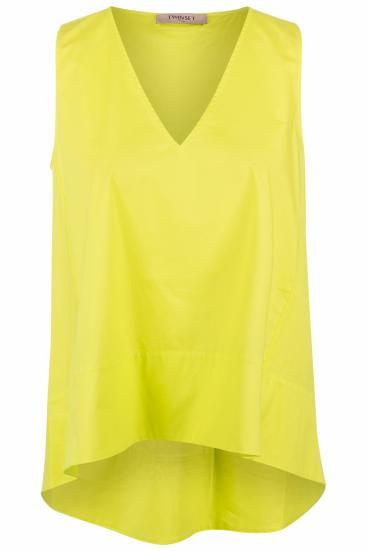 ärmellose Damen Bluse Neongrün