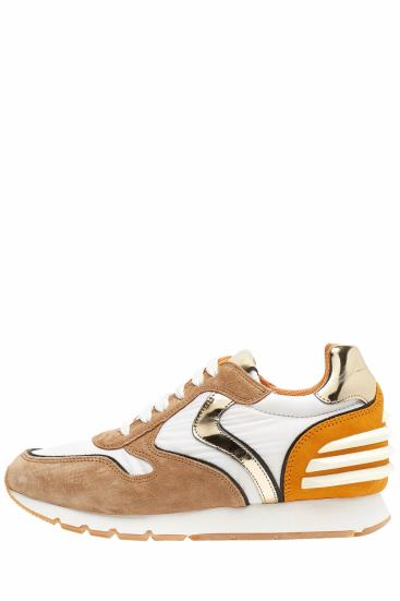 Damen Sneaker Julia Power Weiss/Cognac