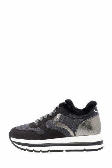 Damen Sneaker Maran Fur Grau