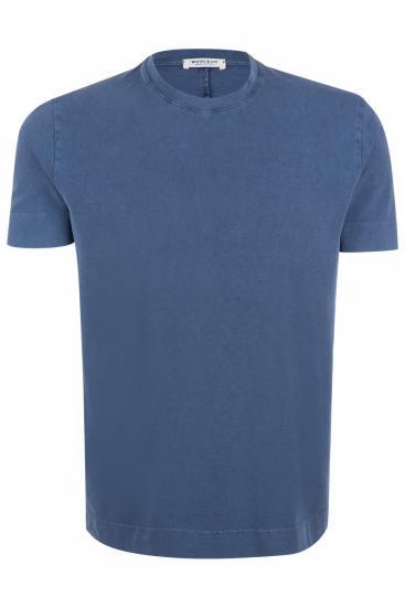 Herren Piqué T-Shirt Marineblau