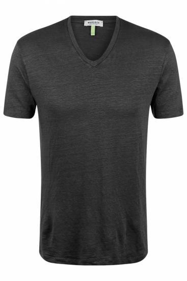 Herren T-Shirt aus Leinen Anthrazit